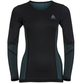 Odlo W's Suw Performance Windshield LS Top Crew black-blue radiance